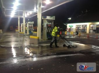 Atlanta Gas Station Pressure Washing