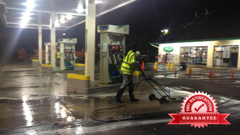 Gas Stations First In Pressure Washing