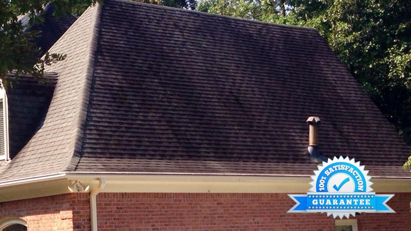 Atlanta, GA Roof Cleaning Before
